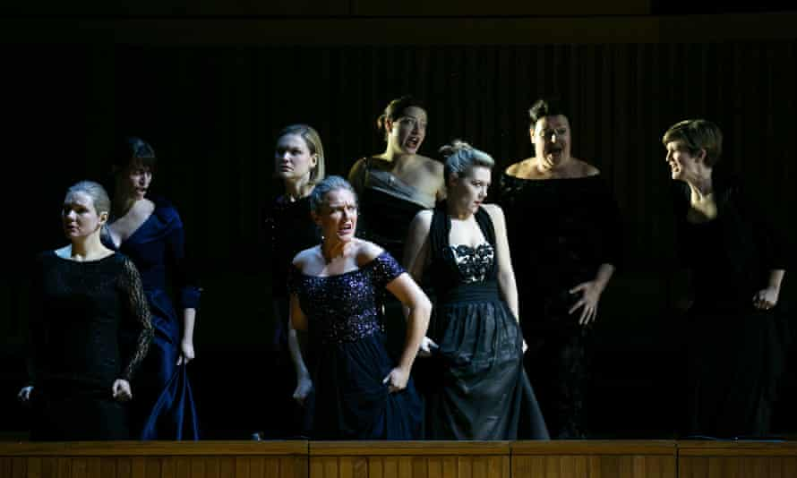 Momentum and dramatic flux... the Valkyries in the LPO's semi-staged Die Walküre at the Royal Festival Hall.