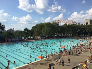 Cooling off in NYAstoria, Queens pool on a steaming hot Sunday Photograph: Jana Pejkovska/GuardianWitness