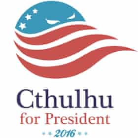 Tentacular totem ... the logo for the Cthulhu for President 2016 campaign.