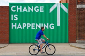 Sign of confidence on a Hull street. Photograph: Alamy