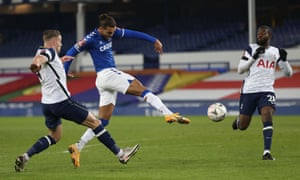 Dominic Calvert-Lewin fires the first goal for the Toffees.