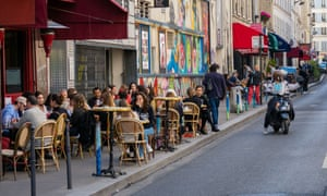 From Monday Paris cafes will be able to open fully.