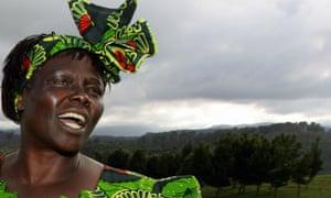 Kenyan 2004 Nobel peace prize winner Wangari Maathai.