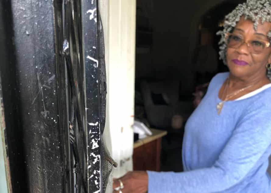 Nelda Price, who was forced from her home by police with guns drawn: 'It was like a nightmare. You just don't expect something like that to happen.'