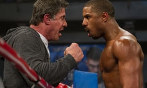 Sylvester Stallone and Michael B Jordan in Creed II.
