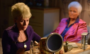 Barbara Windsor, left, with Pam St Clement in EastEnders