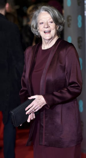 The lady on the carpet Maggie Smith.