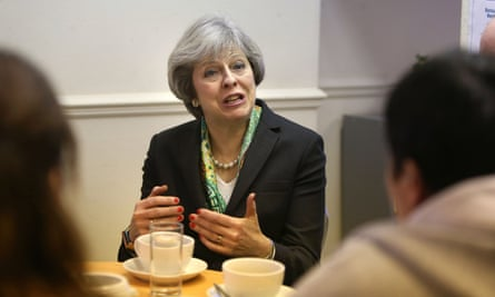 Theresa May visits the Wellbeing Centre in Aldershot, which provides support to people recovering from mental illness