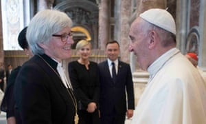 The meeting of Pope Francis and Archbishop Antje Jackelén in Sweden will underscore one of the big divides between their churches: the role of women.