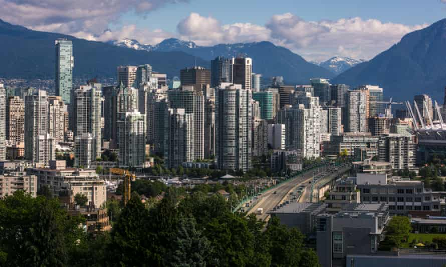 The downtown skyline Vancouver