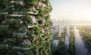 """Nanjing Green Towers will be the first """"vertical forest"""" built in Asia."""