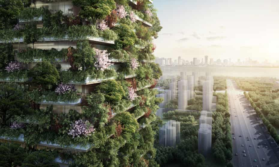 "Nanjing Green Towers will be the first ""vertical forest"" built in Asia."