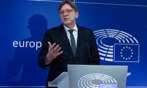 Guy Verhofstadt, the European parliament's Brexit coordinator
