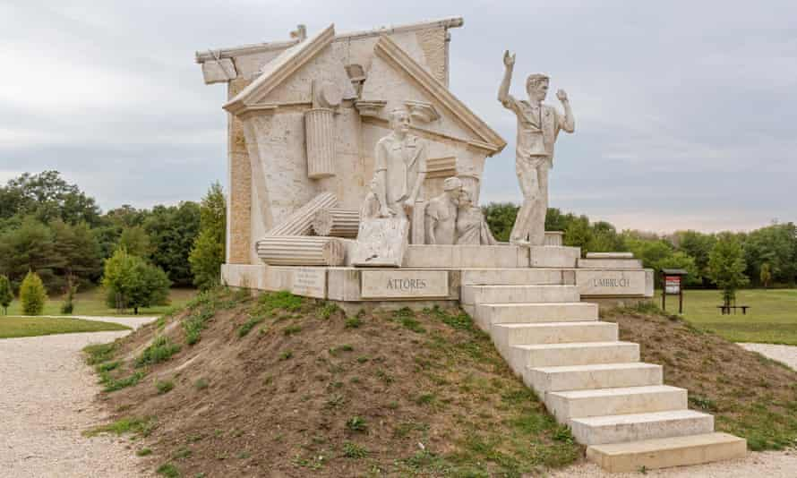 The peace memorial that stands on the site of the 1989 pan-European picnic in Sopron, Hungary.