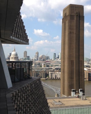 On the waterfront … the Thames and the Turbine Hall tower from the extension