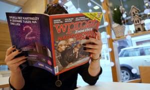 The Polish magazine Wprost depicted Angela Merkel as a Nazi