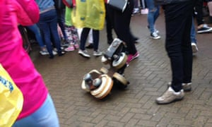 A Facebook image appears to show a wheel from the rollercoaster at M&D's amusement park in Motherwell.