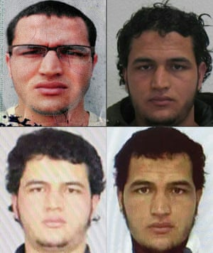 Different portraits of Anis Amri.