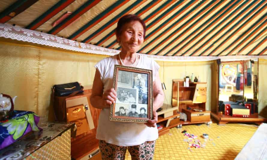 Darii Garam inside her ger in Ulaanbaatar