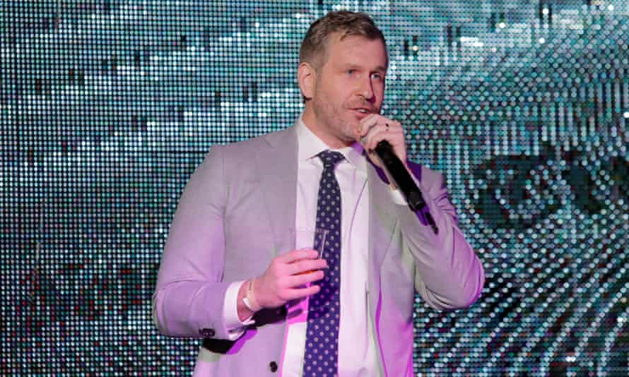 """Mike Cernovich addresses attendees at the """"A Night for Freedom"""" event in Manhattan, New York, U.S., January 20, 2018. Picture taken January 20, 2018. REUTERS/Andrew Kelly"""