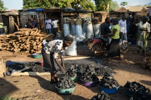 The charcoal market in Gulu, Northern Uganda.