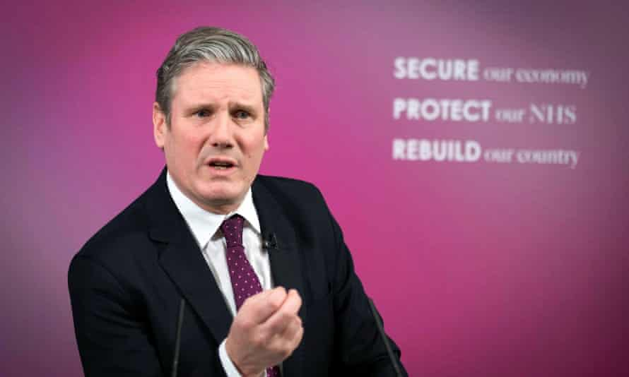 Keir Starmer delivers a virtual speech on Britain's economic future