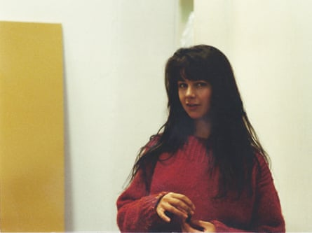 Gillian Wearing at Goldsmiths in 1989.