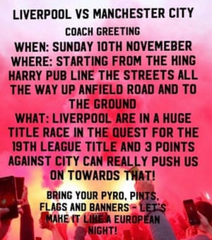 A social media post doing the rounds urges Liverpool supporters to line the streets around Anfield.