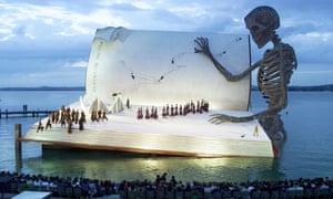 Verdi's Un Ballo in Maschera, directed by Richard Jones, on a floating stage in Bregenz, 1999.