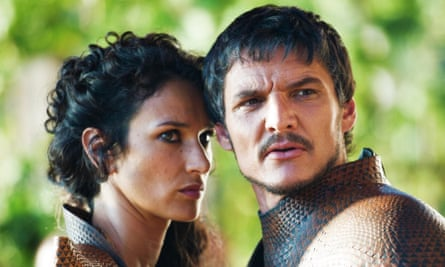 Usually writhing … with Pedro Pascal as Oberyn in Game of Thrones.