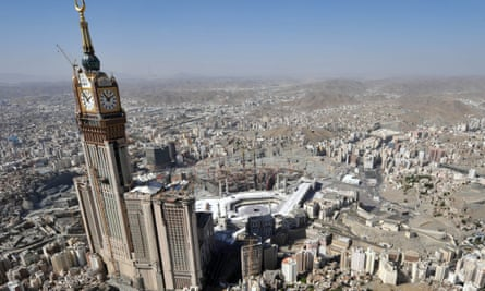 The Abraj Al-Bait Towers, also known as the Mecca Royal Hotel Clock Tower.