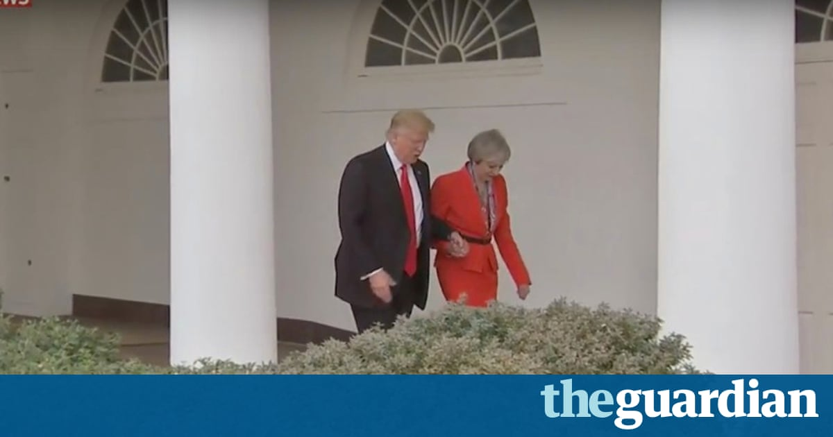 32bdd6dd86ee Donald Trump attempted to put up a united front with key ally Theresa May  on Friday but stopped short of endorsing her commitment to continued  sanctions on ...