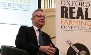 Environment secretary Michael Gove addresses the Oxford Real Farming Conference.