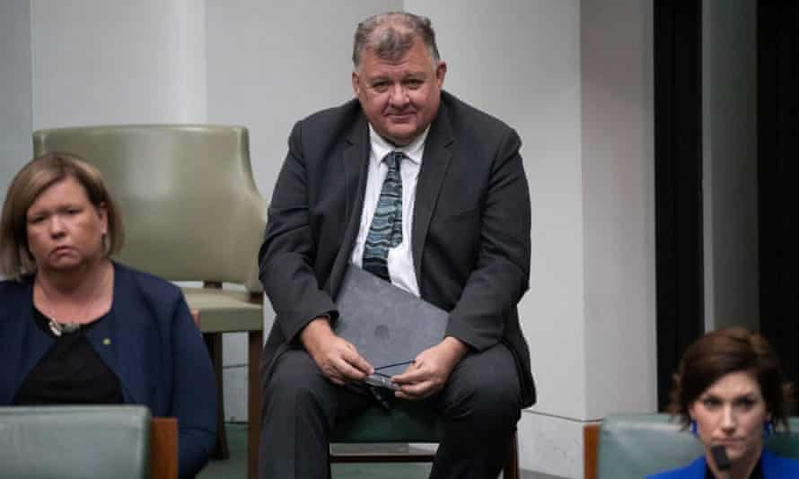 Liberal backbencher Craig Kelly in Parliament