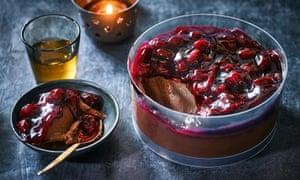 M&S chocolate and cherry dessert
