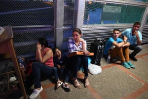 Some asylum seekers have been waiting more than a week.