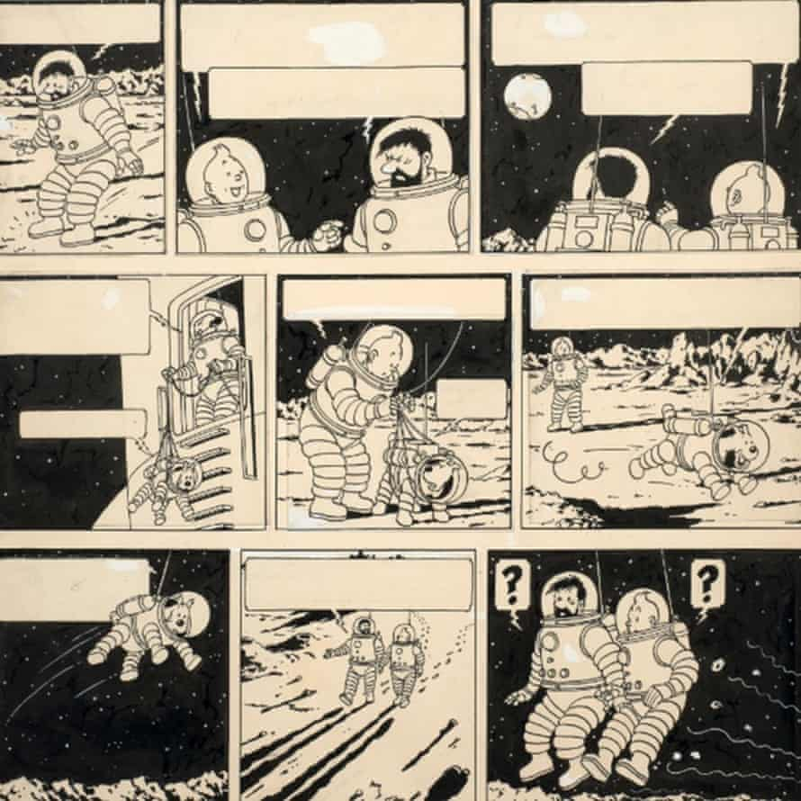 Tintin drawing