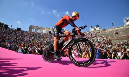 Vincenzo Nibali after the finish of the Giro in Verona