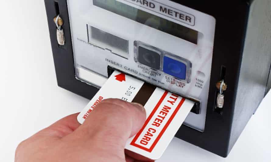 A prepaid energy meter