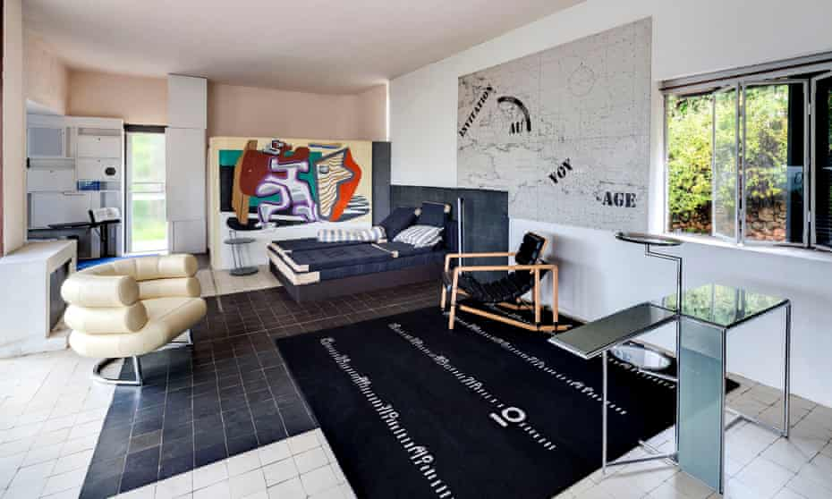 Villa E-2017, designed by architect Eileen Gray, at Cap Moderne, France.