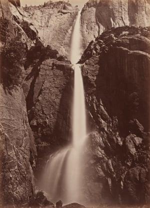 Carleton E. Watkins, Yosemite Falls, View from the Bottom, ca. 1878