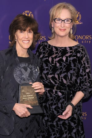 'She really did catch us napping' … Nora Ephron (left) arranged for friends who had not even known that she was ill, including Meryl Streep, to speak at her memorial.