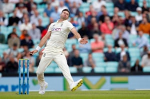 James Anderson gets the action underway.