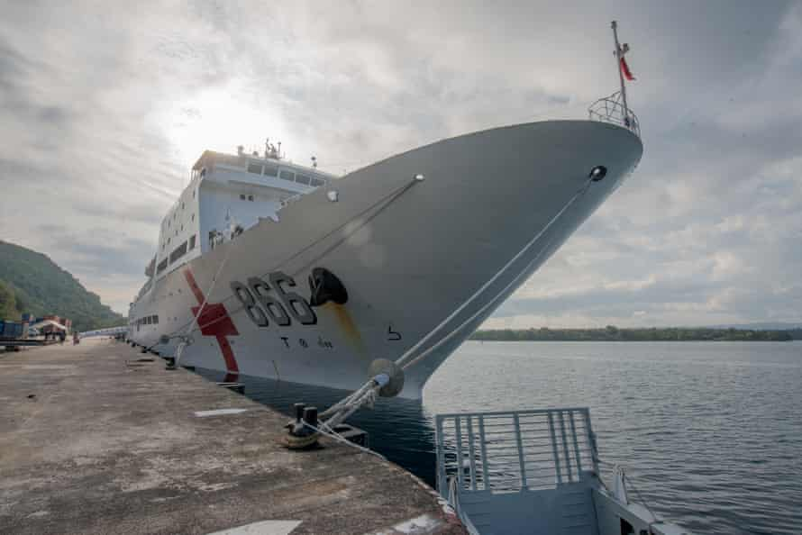 A PLA navy hospital vessel Peace Ark spent a week visiting Vanuatu in 2014. It served nearly 5,000 patients in that time.