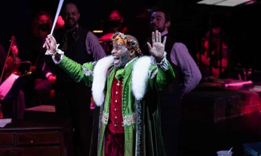 Cedric Neal in A Christmas Carol at London's Dominion theatre.