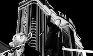 Donald Trump at the opening of the Trump Taj Mahal casino resort in Atlantic City, New Jersey.
