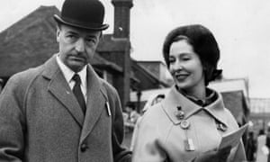 John Profumo, secretary of state for war, and his wife, the former actress Valerie Hobson, at Sandown Park, 22 March 1963.