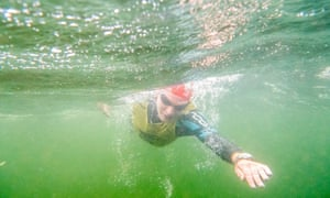 Underwater in the Breca swimrun
