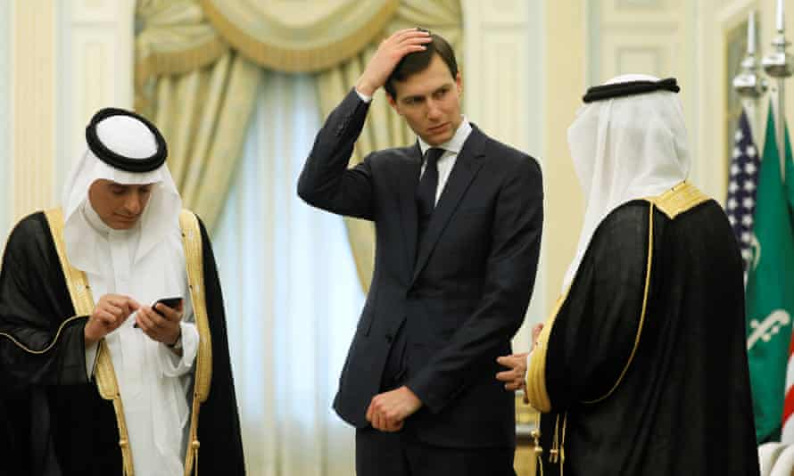 Jared Kushner, White House adviser and President Trump's son-in-law, at the Saudi royal court in Riyadh.