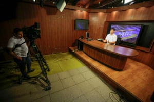 Managua, Nicaragua. February 11, 2019 Canal 12 continues its broadcasts under threats.